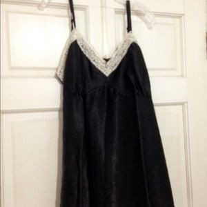 Poly & lace camisole satin tunic top.